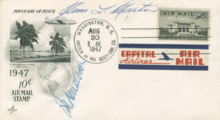 GLENN L. MARTIN - FIRST DAY COVER SIGNED CO-SIGNED BY: JESSE M. DONALDSON