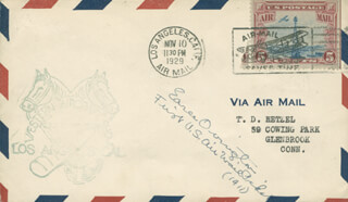 EARLE OVINGTON - COMMEMORATIVE ENVELOPE SIGNED