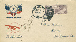 Autographs: MAURICE BELLONTE - COMMEMORATIVE ENVELOPE SIGNED