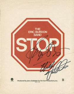 THE ANIMALS - ADVERTISEMENT SIGNED CO-SIGNED BY: THE ANIMALS (ERIC BURDON), THE ANIMALS (HILTON VALENTINE)