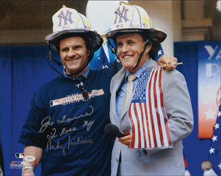 MAYOR RUDOLPH RUDY GIULIANI - AUTOGRAPHED SIGNED PHOTOGRAPH CO-SIGNED BY: JOE TORRE