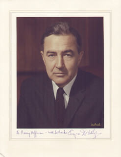 EUGENE J. MCCARTHY - INSCRIBED PHOTOGRAPH MOUNT SIGNED