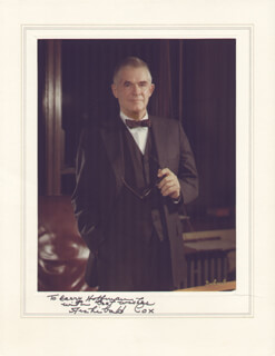 ARCHIBALD COX - PHOTOGRAPH MOUNT SIGNED