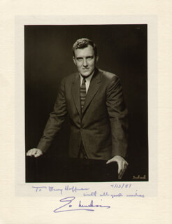 Autographs: EDMUND S. MUSKIE - INSCRIBED PHOTOGRAPH MOUNT SIGNED