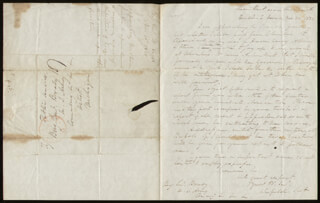 LT. GENERAL WINFIELD SCOTT - AUTOGRAPH LETTER SIGNED 11/30/1838