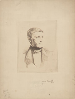 GEORGE BANCROFT - PHOTOGRAPH MOUNT SIGNED CIRCA 1885