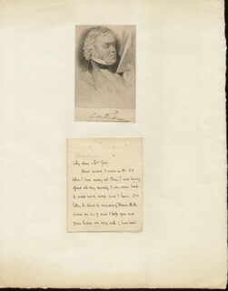 WILLIAM MAKEPEACE THACKERAY - AUTOGRAPH LETTER SIGNED CIRCA 1830