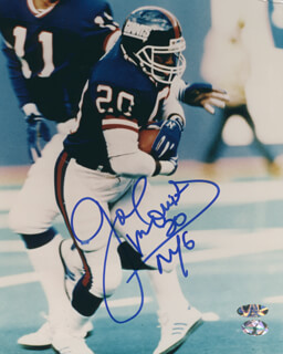 JOE MORRIS - AUTOGRAPHED SIGNED PHOTOGRAPH