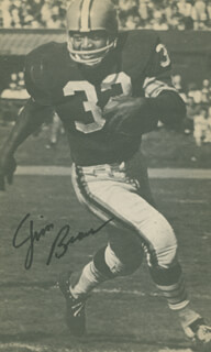 JIM BROWN - BOOK PHOTOGRAPH SIGNED