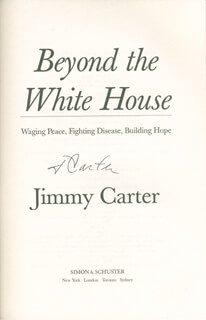PRESIDENT JAMES E. JIMMY CARTER - BOOK SIGNED