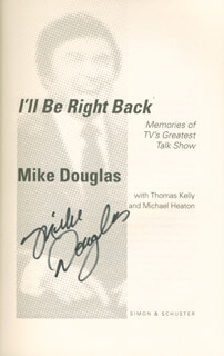 MIKE DOUGLAS - BOOK SIGNED