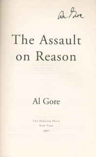 VICE PRESIDENT ALBERT GORE JR. - BOOK SIGNED