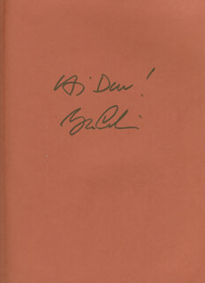 GEORGE CARLIN - INSCRIBED BOOK SIGNED