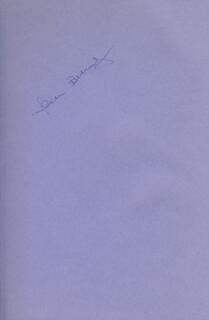 JOAN BENNY - BOOK SIGNED
