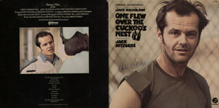 JACK NICHOLSON - RECORD ALBUM COVER SIGNED