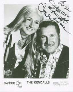 THE KENDALLS - AUTOGRAPHED SIGNED PHOTOGRAPH CO-SIGNED BY: THE KENDALLS (JEANNIE KENDALL), THE KENDALLS (ROYCE KENDALL)