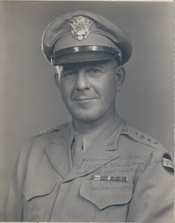GENERAL JACOB L. DEVERS - AUTOGRAPHED INSCRIBED PHOTOGRAPH 04/1947