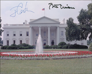 PRESIDENT WILLIAM J. BILL CLINTON - AUTOGRAPHED SIGNED PHOTOGRAPH CO-SIGNED BY: PRESIDENT JAMES E. JIMMY CARTER