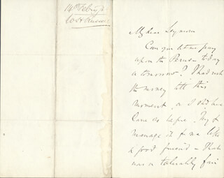 Autographs: WILLIAM HOWARD RUSSELL - AUTOGRAPH LETTER SIGNED 02/14/1876