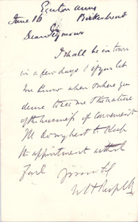 Autographs: WILLIAM HOWARD RUSSELL - AUTOGRAPH LETTER SIGNED 6/16