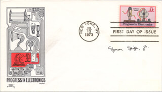 LYMAN SPITZER JR. - FIRST DAY COVER SIGNED