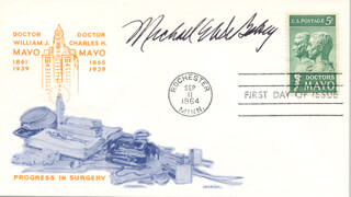 DR. MICHAEL E. DEBAKEY - FIRST DAY COVER SIGNED