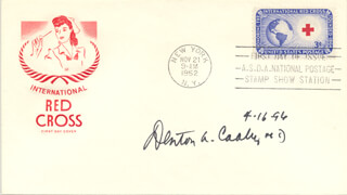 DR. DENTON A. COOLEY - FIRST DAY COVER SIGNED 04/16/1996