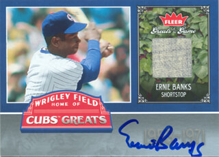 ERNIE MR. CUB BANKS - EPHEMERA SIGNED