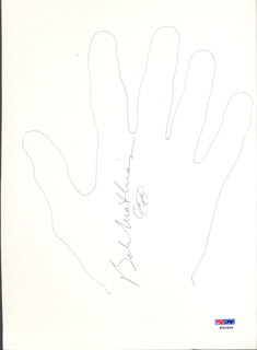 Autographs: BOB MATHIAS - HAND/FOOT PRINT OR SKETCH SIGNED