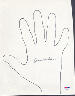 BYRON NELSON - HAND/FOOT PRINT OR SKETCH SIGNED