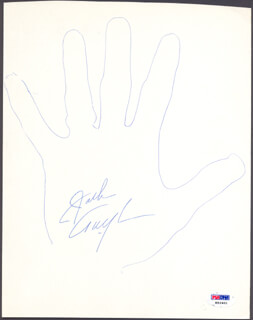 JACK TWYMAN - HAND/FOOT PRINT OR SKETCH SIGNED