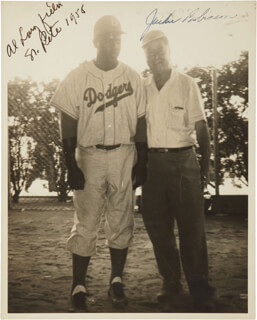 JACKIE ROBINSON - AUTOGRAPHED SIGNED PHOTOGRAPH CIRCA 1958