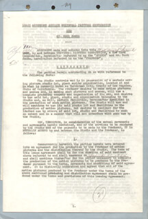 BUCK JONES - DOCUMENT SIGNED 03/31/1934