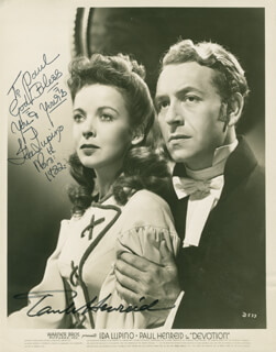 DEVOTION MOVIE CAST - AUTOGRAPHED INSCRIBED PHOTOGRAPH 11/08/1982 CO-SIGNED BY: PAUL HENREID, IDA LUPINO