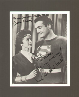 SUPERMAN TV CAST - AUTOGRAPHED INSCRIBED PHOTOGRAPH CO-SIGNED BY: NOEL NEILL, JACK LARSON