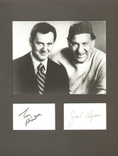 THE ODD COUPLE TV CAST - AUTOGRAPH CO-SIGNED BY: JACK KLUGMAN, TONY RANDALL