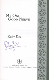 RUBY DEE - BOOK SIGNED CO-SIGNED BY: SIDNEY POITIER, OSSIE DAVIS