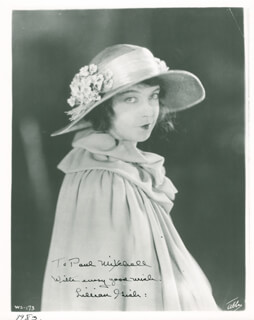 LILLIAN GISH - AUTOGRAPHED INSCRIBED PHOTOGRAPH CIRCA 1983