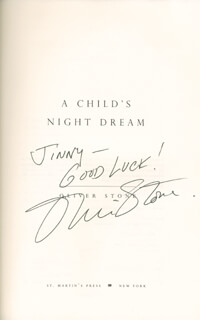 OLIVER STONE - INSCRIBED BOOK SIGNED