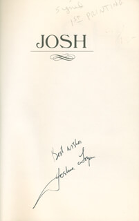 JOSHUA LOGAN - BOOK SIGNED