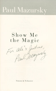 PAUL MAZURSKY - INSCRIBED BOOK SIGNED
