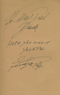 GEORGE RAFT - INSCRIBED BOOK SIGNED