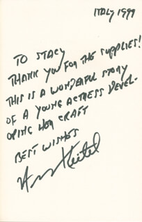 HARVEY KEITEL - INSCRIBED BOOK SIGNED 1999