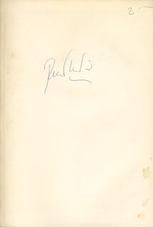PETER USTINOV - BOOK SIGNED