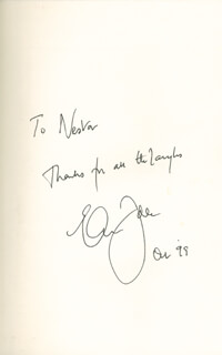 ERIC IDLE - INSCRIBED BOOK SIGNED 10/1999