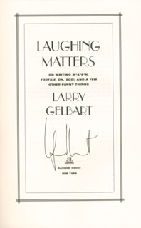 LARRY GELBART - BOOK SIGNED CO-SIGNED BY: BEATRICE BEA ARTHUR