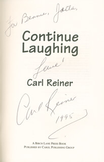 CARL REINER - INSCRIBED BOOK SIGNED 1995