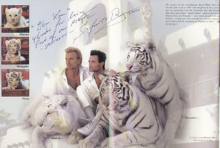 SIEGFRIED & ROY - INSCRIBED BOOK SIGNED 2000 CO-SIGNED BY: SIEGFRIED & ROY (ROY HORN), SIEGFRIED & ROY (SIEGFRIED FISCHBACHER)