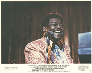 FATS DOMINO - AUTOGRAPHED INSCRIBED PHOTOGRAPH