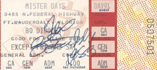 BO DIDDLEY - TICKET SIGNED 1983